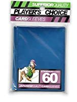 Player's Choice Metallic Blue Sleeves (Pack of 60) Standard Size Deck Protectors - Ideal for Pokemon, Magic The