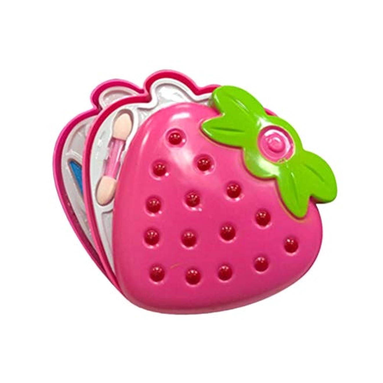引き付けるサーキットに行く幼児Toyvian キッズガールズメイクアップセット三層化粧品美容キット美容セット子供のためのミラー
