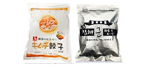 韓国餃子2�s(キムチ餃子1�s+チャプチェ焼き餃子1�s)