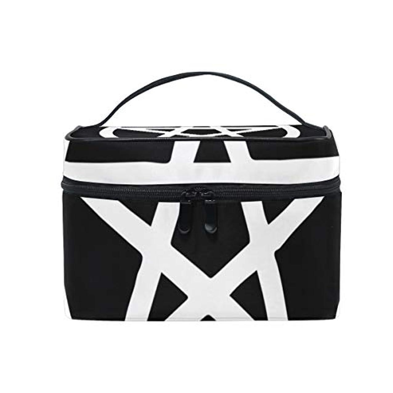 百酸素番目メイクボックス ウィザード、五芒星柄 化粧ポーチ 化粧品 化粧道具 小物入れ メイクブラシバッグ 大容量 旅行用 収納ケース