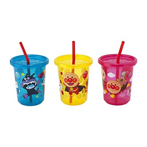 レック アンパンマン ストローカップ 3個入 (3色別柄)