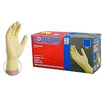 Gloveworksアイボリーラテックス工業パウダーフリー使い捨て手袋
