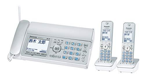 パナソニック デジタルコードレスFAX 子機2台付き 1.9GHz DECT準拠方式 シルバー KX-PD315DW-S