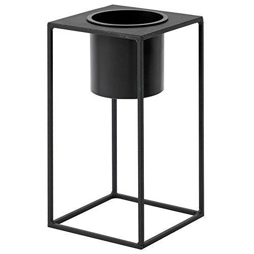 RoomClip商品情報 - ルームアンドホーム 鉢カバー ブラック 28×15×15cm スタンド フラワーベース 花器 M モノ 植木鉢 F型
