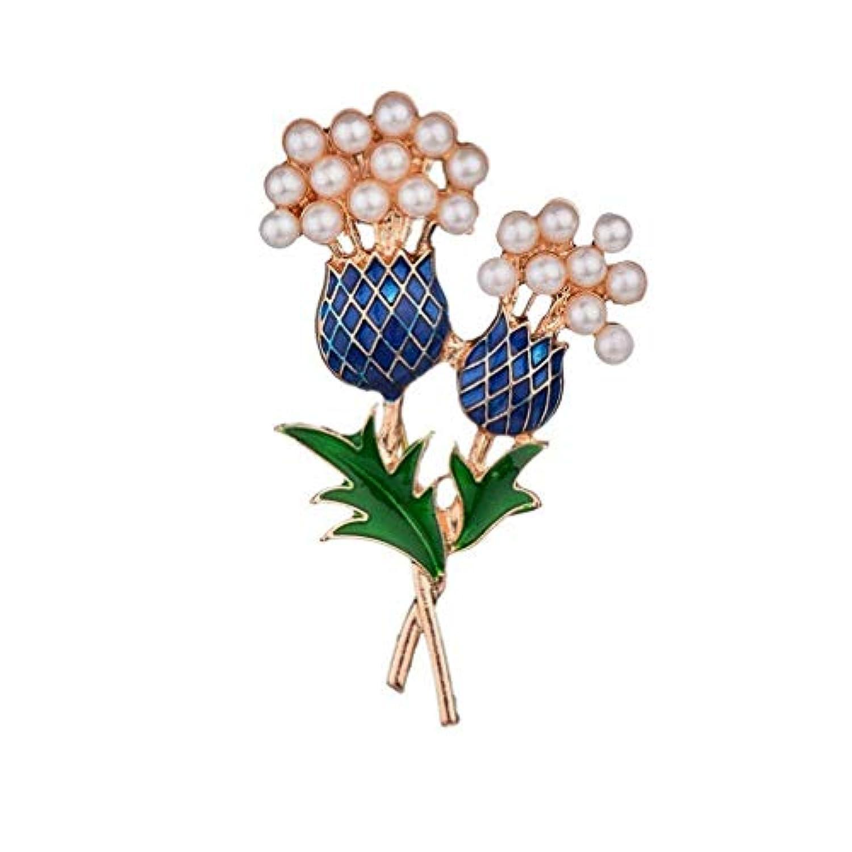 Toporchid 女性の合金珐ineパイナップルの木のブローチと模造真珠のデザインのブローチ