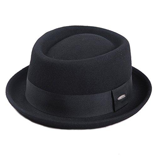 Sedancasesaメンズハット メンズ帽子 フェルトハット ポークパイ 大きいサイズ ウールフェルト 57CM/59CM メンズ秋冬帽子 …