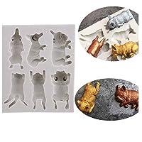 Cngstar 鋳型 焼き菓子型 シリコーン製 ケーキ チョコレート 手作り石鹸モールド DIY 有能な主婦 手作り 猫と犬