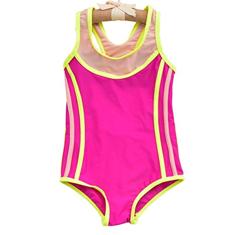 女の子 ローズレッド エクササイズ トレーニング 水着 (色 : ローズレッド, サイズ : XL)