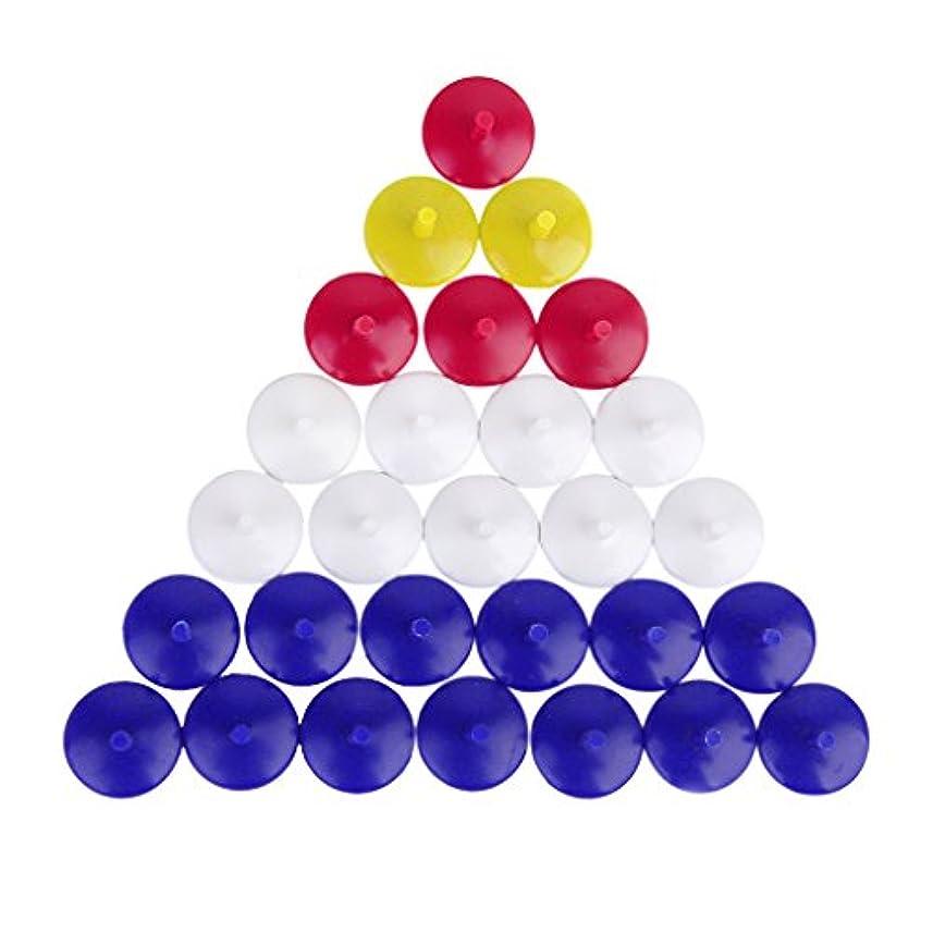 解明するカフェ物理50Pcs ゴルフボールマーカー ボールマーク プラスチック製 混合色円形