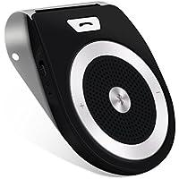 AGPTEK 車載用 Bluetoothスピーカー ワイヤレス ポータブルスピーカーホン ハンズフリー通話 音楽再生 ブルートゥース4.0 T821 ブラック