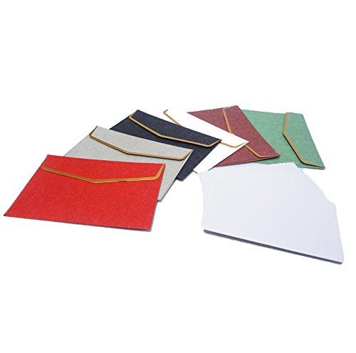 [comoza] プレミアム 封筒 メッセージカード セット 手紙 便箋 レターセット (マルチカラー)