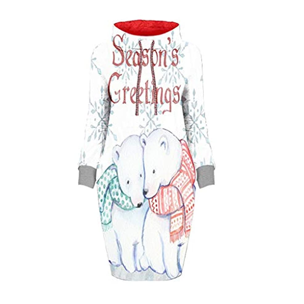 枝気づく靴liqiuxiang クリスマス tシャツワンピース 大きいサイズ ドレス コスチューム コスプレ ハロウイン セータードレス レディース トレーナー パーティードレス タートルネック 長袖