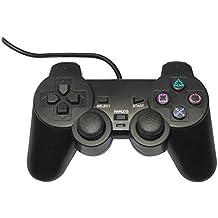 PS2対応 アナログコントローラー ブラック サードパーティー製 (互換品)