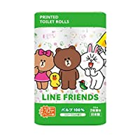 キャラクタートイレットペーパー 丸富製紙 LINE FRIENDS ダブル25m 12RX8P