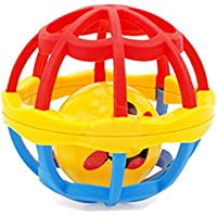 HuaQingPiJu-JP 赤ちゃんラブリープラスチック手ざわりのベル子供赤ちゃんFunnnyクロールおもちゃボールギフト