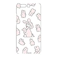 Caho Huawei P10 Plus VKY-L29 ケース クリア TPU プリント うさぎE (ch-040) スリム 薄型 WN-LC1009043