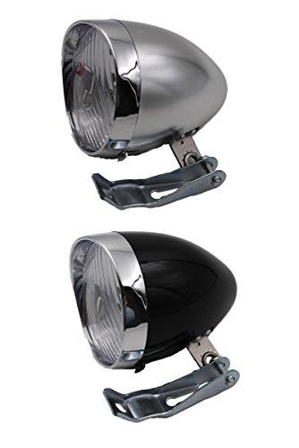LED 5灯 だから 明るい 安全 しかも おしゃれ で かっこいい レトロ 砲弾 型 自転車 フロント ヘッドライト 簡単 取付 電池式 クラシック ティーアイモール