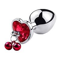 CXQ 心地よいおもちゃへの高品質の金属ベルの拡張 T-shirt (Color : Red, Size : M)