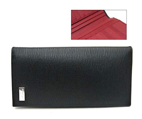 (フェラガモ) ferragamo 長財布 メンズ ブラックx内側レッド 66-9771 並行輸入品