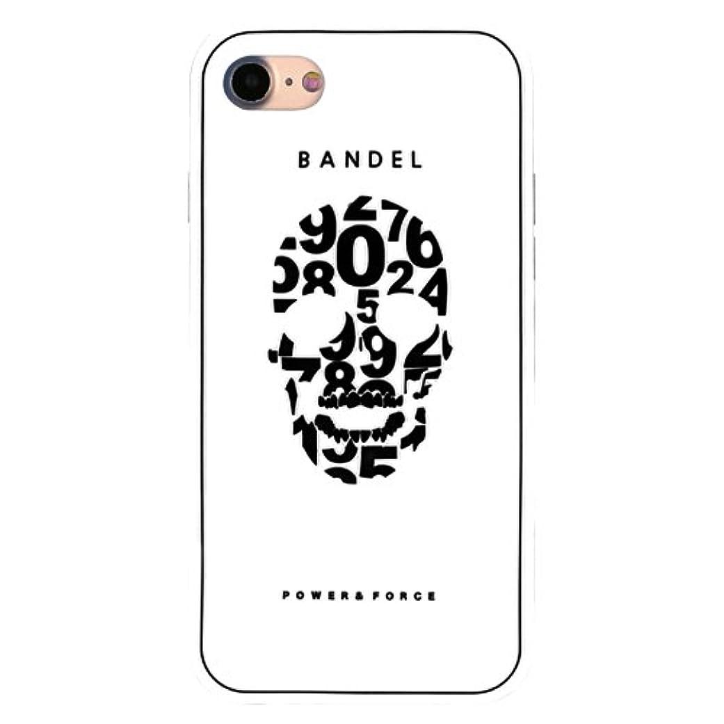 以前はキャプテン気取らないバンデル(BANDEL) スカル iPhone 8専用 シリコンケース [ホワイト×ブラック]