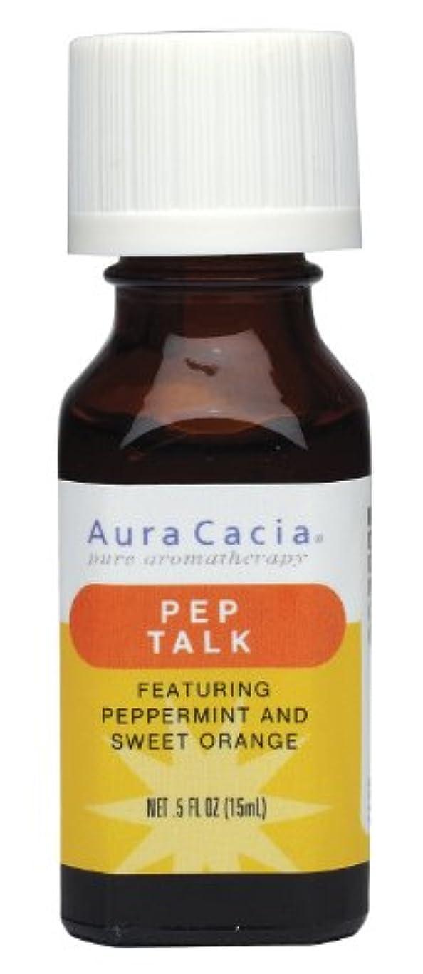 ふけるジャズデュアルAura Cacia Pep Talk Essential Solutions 15 ml