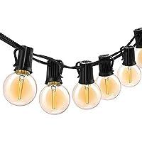 ボンコシ LEDストリングライト 防雨型 E17ソケット10個 LED電球*12個 5.5M 連結可能 イルミネーションライト 2700k 電球色相当 クリスマス 結婚式 パーティー電飾