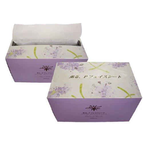 null 薫る、Pフェイスシート 100枚入 白色・ヨコ折り (癒しのシャンプー用フェイスシート) ラベンダーの香りの画像