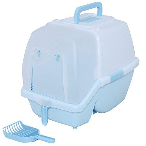 アイリスオーヤマ 掃除のしやすいネコトイレ SSN-530 ミルキーブルー