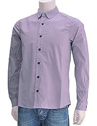(ストーンアイランド)STONEISLAND 511710 メンズ 長袖カジュアルシャツ ラベンダー 正規取扱店