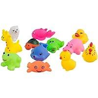 Lovoski 約12個セット  玩具  動物形 マルチカラー 子供 ベビー 風呂  バス 遊び ギフト