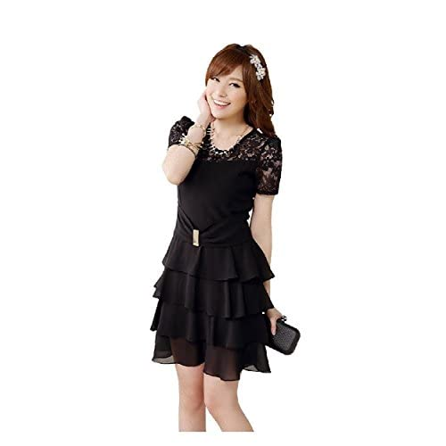 スイートベル (sweet bell) パーティードレス ドレス 結婚式 フォーマル 大きいサイズ ブラック 黒 Lサイズ