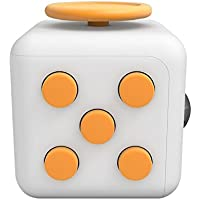 WolfEye Fidget Cube ストレス解消キューブ 不安 緊張 リリーフ ルービックキューブ おもちゃ クリスマスギフト ポケットゲーム (白+黄)