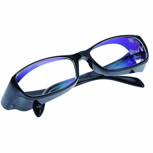 花粉・ブルーライト・UVカット 万能メガネ Eyelir Protect (ブラック) / ブロッティングペーパー付