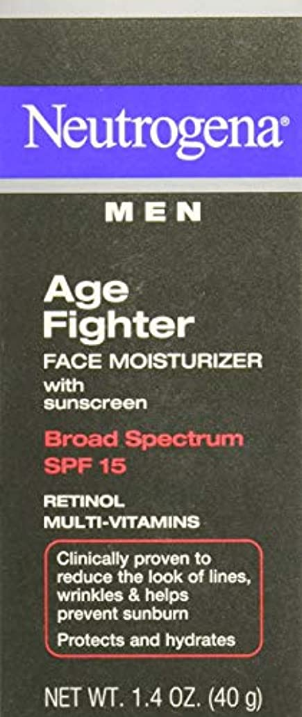 変動する落ち着いて風刺[海外直送品] Neutrogena Men Age Fighter Face Moisturizer with sunscreen SPF 15 1.4oz.(40g) 男性用ニュートロジーナ メン エイジ ファイター...