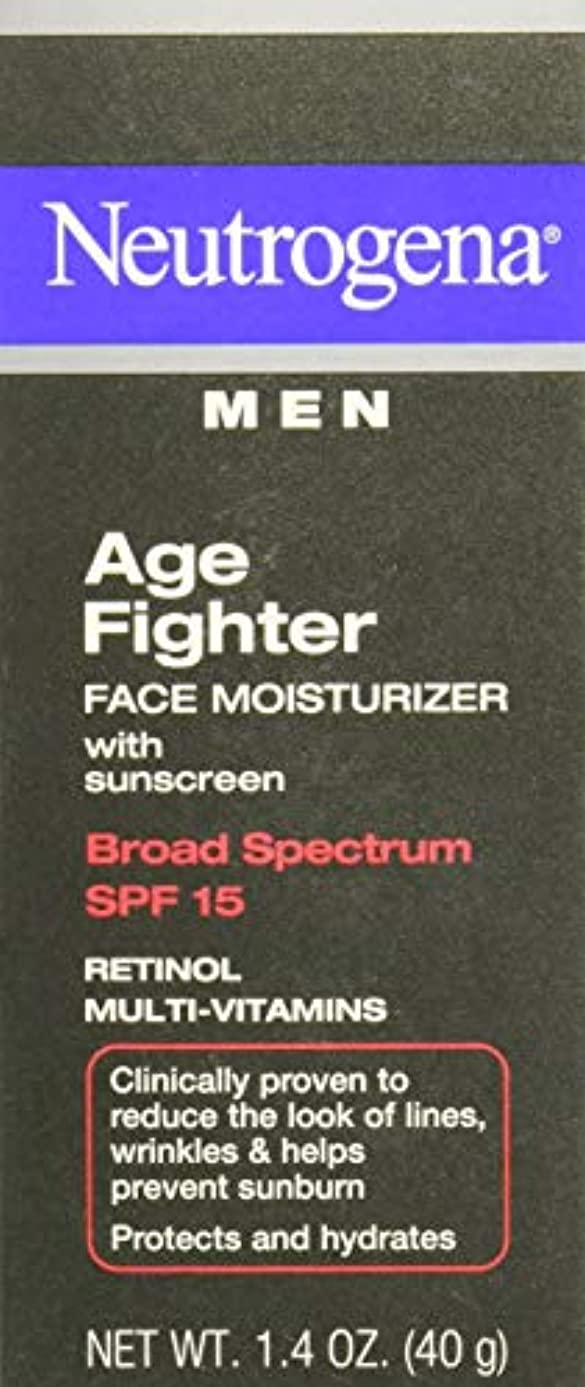 蒸気乱用翻訳者[海外直送品] Neutrogena Men Age Fighter Face Moisturizer with sunscreen SPF 15 1.4oz.(40g) 男性用ニュートロジーナ メン エイジ ファイター...