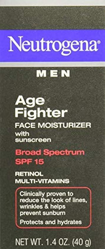 静脈ウォーターフロントつかの間[海外直送品] Neutrogena Men Age Fighter Face Moisturizer with sunscreen SPF 15 1.4oz.(40g) 男性用ニュートロジーナ メン エイジ ファイター...