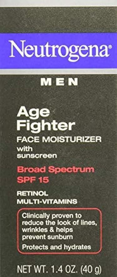 有益敬意を表する非常に怒っています[海外直送品] Neutrogena Men Age Fighter Face Moisturizer with sunscreen SPF 15 1.4oz.(40g) 男性用ニュートロジーナ メン エイジ ファイター フェイス モイスチャライザー