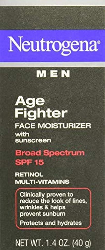 弱める抗議ベリー[海外直送品] Neutrogena Men Age Fighter Face Moisturizer with sunscreen SPF 15 1.4oz.(40g) 男性用ニュートロジーナ メン エイジ ファイター...