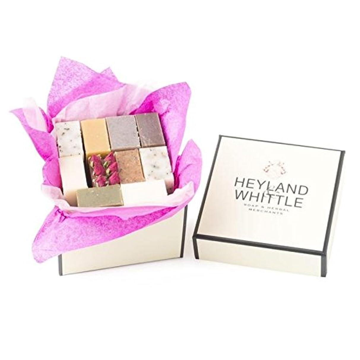 真剣に驚不従順小さな&削るソープギフトボックス、 x4 - Heyland & Whittle Soap Gift Box, Small (Pack of 4) [並行輸入品]
