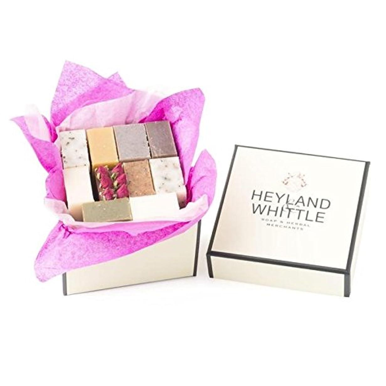 七時半勉強するの小さな&削るソープギフトボックス、 x4 - Heyland & Whittle Soap Gift Box, Small (Pack of 4) [並行輸入品]