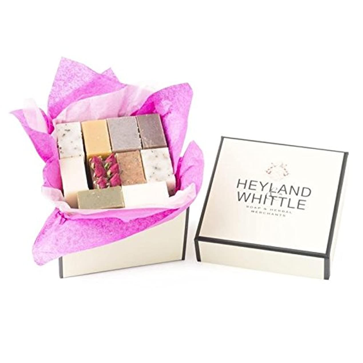 生態学ウェーハ留め金Heyland & Whittle Soap Gift Box, Small (Pack of 6) - 小さな&削るソープギフトボックス、 x6 [並行輸入品]