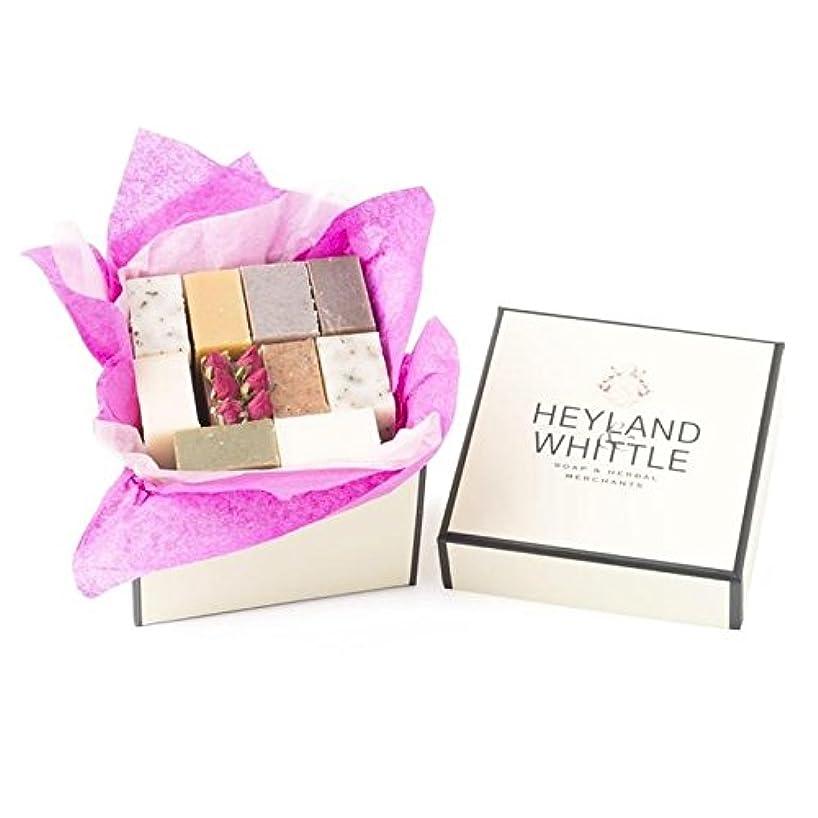 君主制漏れ累積小さな&削るソープギフトボックス、 x4 - Heyland & Whittle Soap Gift Box, Small (Pack of 4) [並行輸入品]