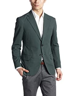 United Arrows Seersucker 2-button Jacket 1122-110-3626: Green