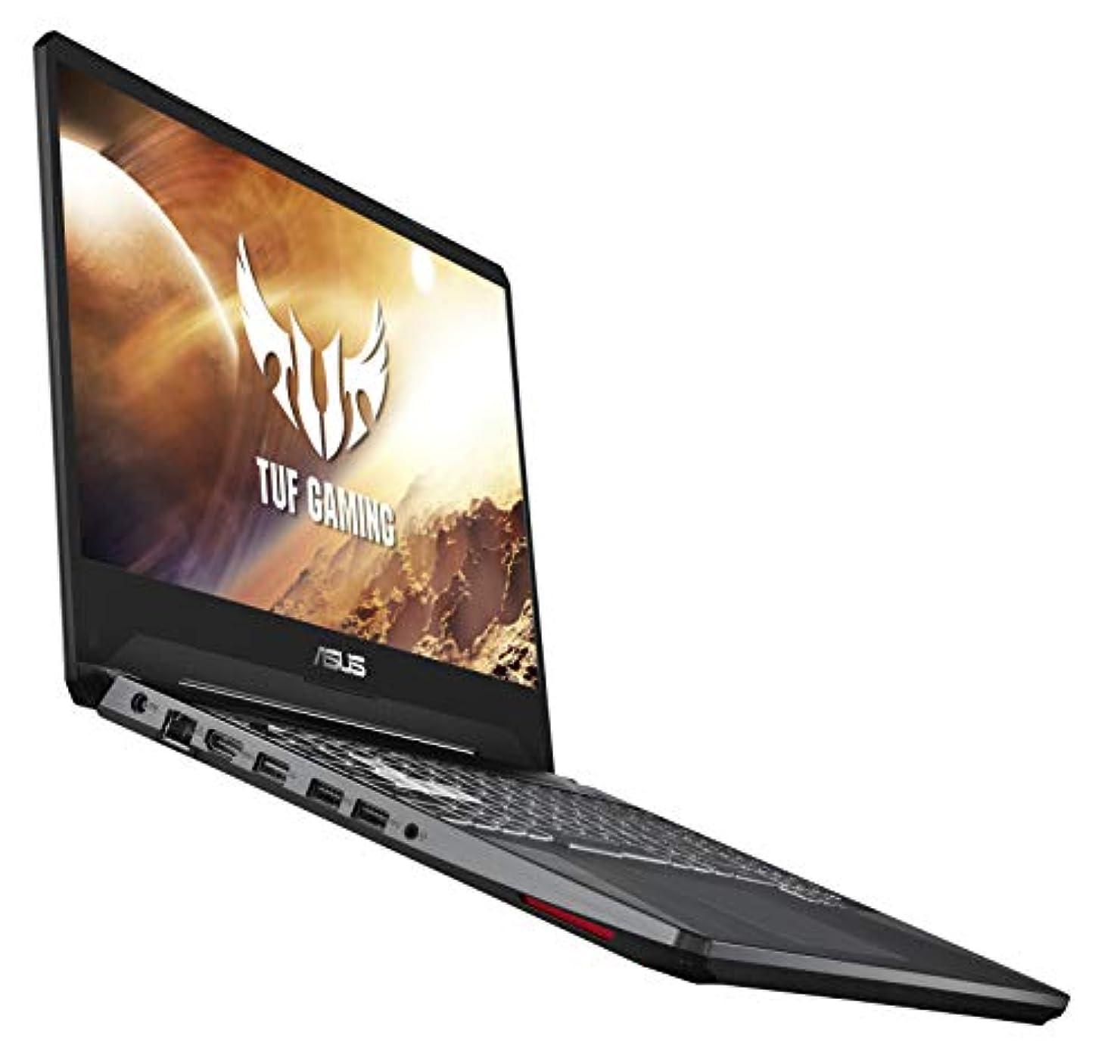 固執たっぷり倒産ASUS TUF(2019)ゲームのラップトップ、15.6  120HzのフルHD IPS型、AMD Ryzen 7 3750H、のGeForce GTX 1650、8ギガバイトDDR4、512ギガバイトのPCIe SSD、ギガビットのWi-Fi 5、Windowsの10ホーム、FX505DT-EB73