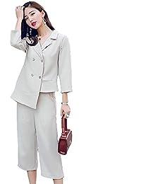 MIKOO スーツ パンツ 2点セット レディース セットアップ 入学式 スーツ ママ 入園式 おしゃれ レディース セレモニースーツ パンツスーツ フォーマルスーツ 卒業式 通勤 結婚式 大きいサイズ