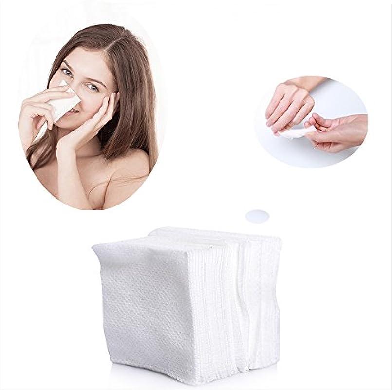 自明コウモリラインコットンパフ 化粧用コットン 敏感肌 顔拭きシート メイクアップ コットン 100枚入
