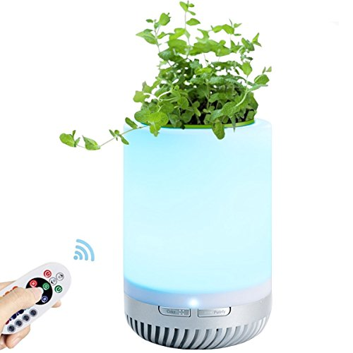 リスネコ(Lisnec)空気清浄機 ライト イオン発生 リモコン付き 充電式 16色LEDライト 卓上ライト 脱臭 殺菌 静音 PM2.5対応 花粉 ホコリ除去 タバコ 省エネ