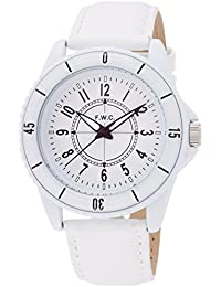 [フィールドワーク]Fieldwork 腕時計 CHレザー ラージ アナログ表示 ホワイト QKD034-1