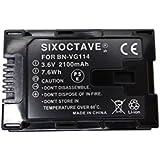 [SIXOCTAVE] 大容量残量表示可能 Victor JVC 日本 ビクター リチウムイオンバッテリー BN-VG114/BN-VG119/BN-VG107/BN-VG108/BN-VG109 完全互換バッテリー プラグなし 残量表示可能 VICTOR GZ-E220 GZ-E225 GZ-E265 GZ-E280 GZ-E320 GZ-E325 GZ-E345 GZ-E565 GZ-MS210 GZ-MS230 GZ-MG980 GZ-HD620 GZ-G5 GV-LS2 GV-LS1 GZ-HM350 GZ-HM450 GZ-HM570 GZ-HM670 GZ-HM690 GZ-E765、GZ-N5、GZ-N1 GZ-MG760 トーカ堂GZ-E180、GZ-HM390、GZ-HM33 Everio エブリオ 等 ビデオ カメラ 用バッテリー[メーカー純正充電器チャージャー及びカメラ本体充電可能、純正品と同じ使用方法]