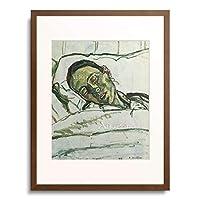 フェルディナント・ホドラー 「Dying Valentine Gode-Darel. 1915」 額装アート作品
